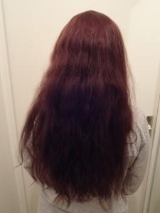 cheveux séchés naturellement