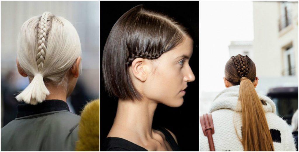 La mini tresse incrustée : tendance coiffure 2018