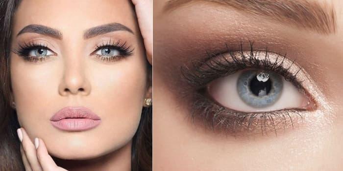 Maquillage couleur yeux gris