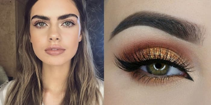 Maquillage couleur yeux verts