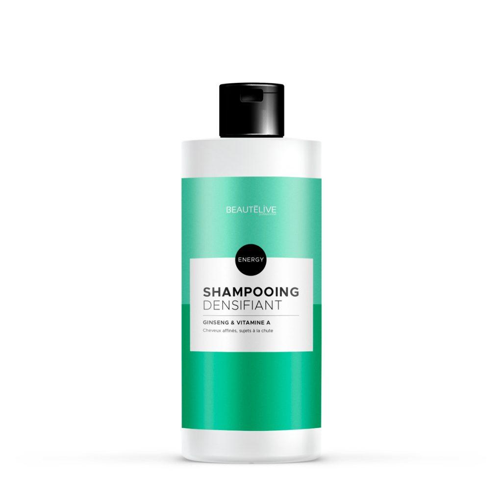 Le shampoing Energy, l'anti-chute de cheveux avant de faire les ampoules.