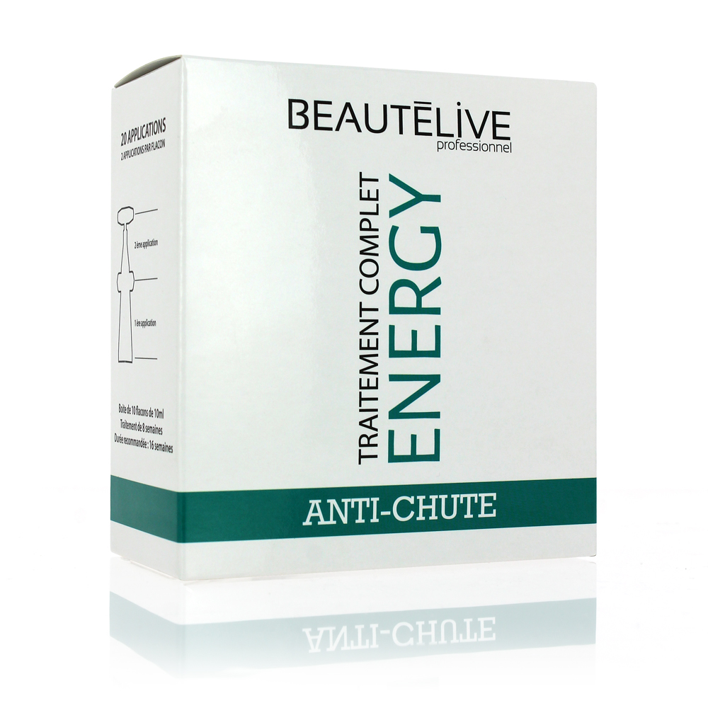 La cure Energy pour compléter l'action du shampoing anti-chute de cheveux.