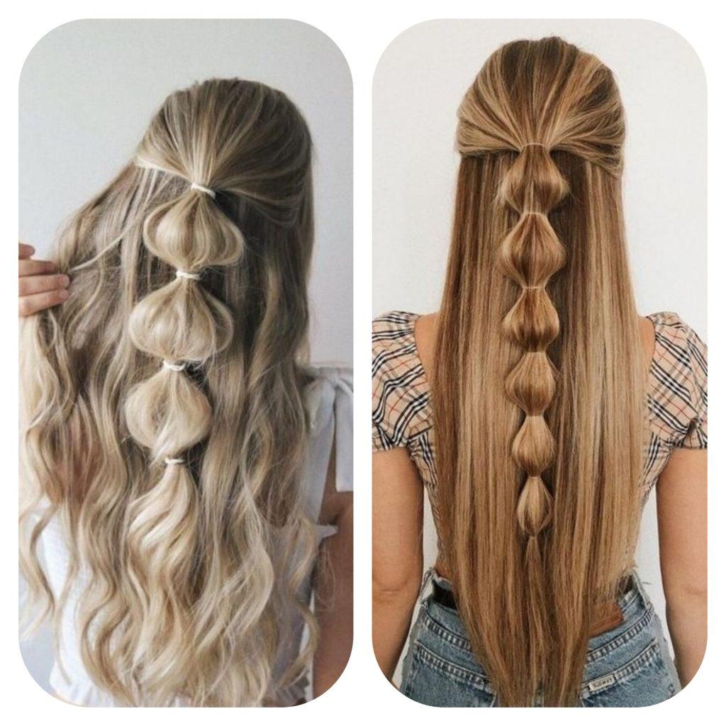 La tresse bulle, pour garder les cheveux longs en étant tendance.