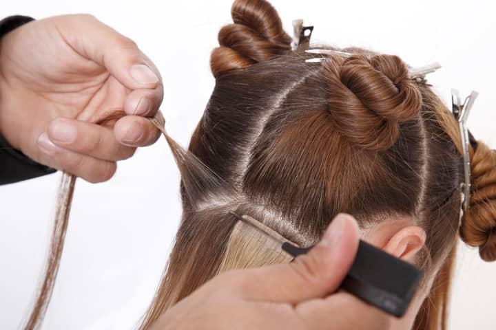 extensions cheveux bandes adhésives conseils