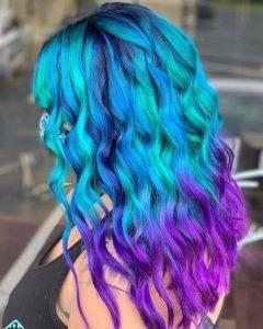 tendance coiffure 2021 pour printemps été mermaid hair 2