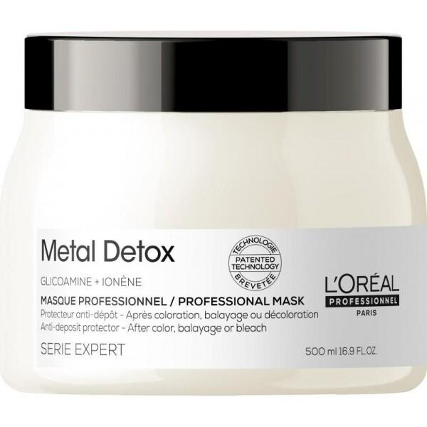 Le soin protecteur Metal Detox anti-dépôt empêche les nouvelles particules de métal de se déposer sur le cheveu