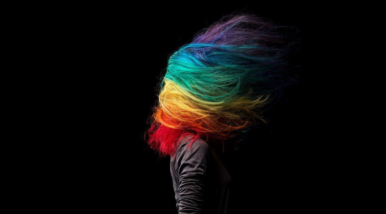 Cheveux multicolore coiffure manic panic