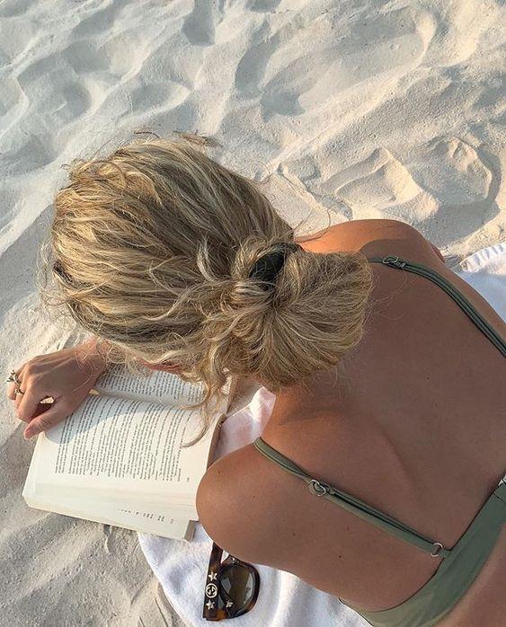 cheveux secs à la plage